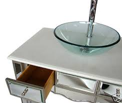 Bathroom Vanity Vessel Sink by Adelina 36 Inch Mirrored Vessel Sink Bathroom Vanity White Marble
