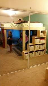 Kids Loft Bed With Storage Homemade Loft Bed Great Way To Save Space Cute Home Stuff