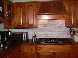 kitchen faux brick backsplash in kitchen brick backsplash