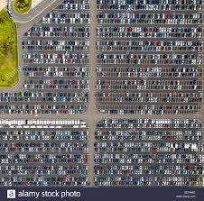 peugeot car company aerial view new car parking wallenius wilhelmsen logistics