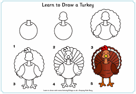 learn to draw a turkey thanksgiving printables