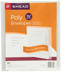 amazon com smead poly envelope 1 1 4