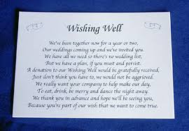 wedding wishes honeymoon wishing well poems
