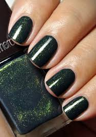 glossy emerald glittery tips usually not a van of green but i