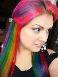 beautiful hair that u0027s it though rainbow hair colored hair