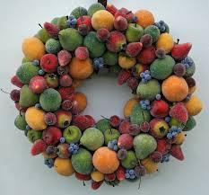 wreath sugared fruit wreath