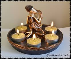 tea light and candle holders mystic wish
