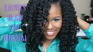 braid out natural hair kelsey s braid out tutorial youtube