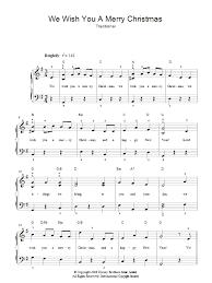we wish you a merry christmas sheet music direct