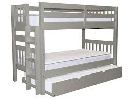 Bunk Bed Twin Gray Trundle  Bunk Bed King - Height of bunk beds
