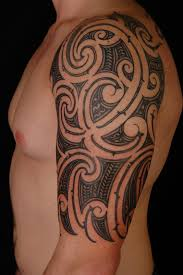 upper arm taino sun tattoos for men real photo pictures images