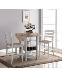 Dining Room Table With Wine Rack by Spectacular Deal On Bernards Ridgewood Drop Leaf Counter Height