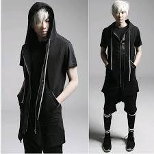 designer weste günstige 2015 mode harajuku leder patchwork lange kapuzen männer