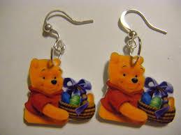 easter winnie pooh earrings disney eggs funjewelryshop