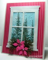 Christmas Window Frame Decoration by 104 Best Cards With Windows Or Doors Images On Pinterest Window