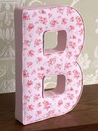 girls floral vintage shabby chic fabric letters nursery bedroom