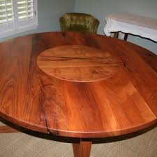 round table with lazy susan built in buy a hand made white oak 72 round dining table with lazy susan
