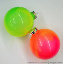 neon marble paint ornaments ilovetocreate
