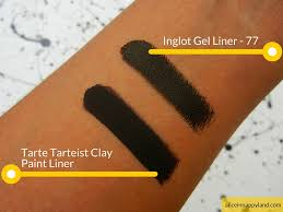Black Paint Swatch Tarte Tarteist Clay Paint Liner Review Swatches Alice In Nappyland