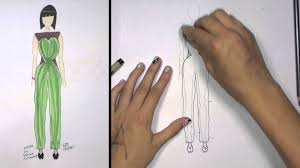 how to draw clothes for beginners fashion designing green and