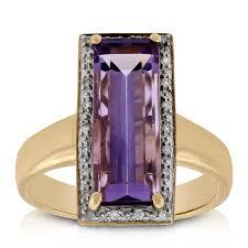 amethyst diamond engagement ring baguette amethyst u0026 diamond ring 14k ben bridge jeweler