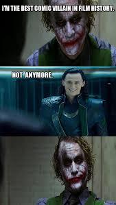 Dark Knight Joker Meme - joker vs loki dark knight 4 pane know your meme