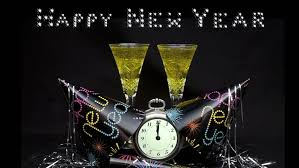 new years chagne flutes happy new year with party favors chagne flutes and clock