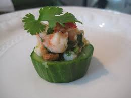 canape cups recipes how to canapes prawn and cucumber cups