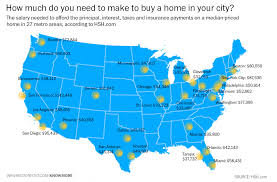 San Francisco In Us Map by The Salary Needed To Buy A Home In 27 U S Cities U2013 Next Generation