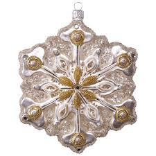 sparkling snowflake premium glass ornament keepsake ornaments