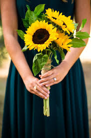 sunflower bouquet wedding ideas cost of sunflower wedding bouquet sunflower