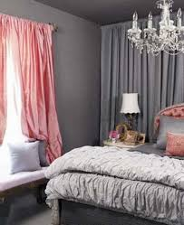 Pink And Grey Girls Bedroom Beautiful Pink And Gray Curtains And Drapes And Curtains