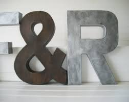 Initial Home Decor | items similar to copper letter painted letter 12 inch tall wall
