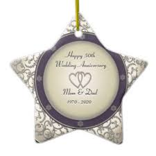 50th wedding anniversary christmas ornament happy anniversary mom and dad ornaments u0026 keepsake ornaments zazzle