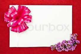 Flower Designs On Paper White Paper Blank On Red With Flowers Design On Red Background