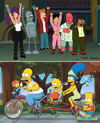 the simpsons to join forces with futurama for crossover episode