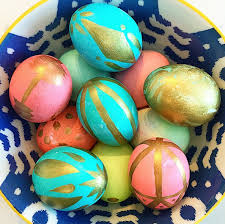 painted easter eggs gold painted easter eggs crafty morning