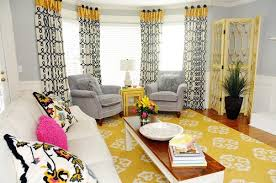 Yellow White Curtains Black White And Yellow Curtains 100 Images Grey Living Room