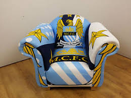 Childs Armchair Childs Armchair In Manchester City Fc Theme Fabric Ebay