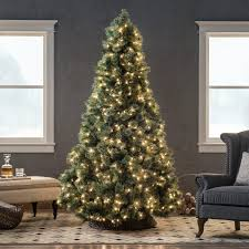 7 5 ft dunhill fir hinged pre lit christmas tree dual color led