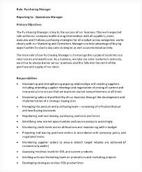 purchase resume purchasing manager resume