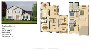 Two Family Floor Plans by Modular Home Two Story 550 1 Jpg