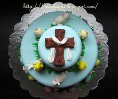 Religious Easter Cake Decorations by