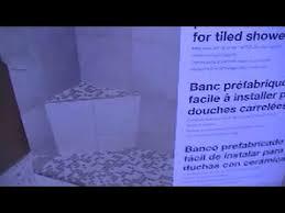 Schluter Corner Bench Insalling Schluter Kerdi Corner Shower Bench Youtube