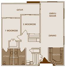 two bedroom two bath floor plans home design 87 excellent 2 bedroom bath floor planss