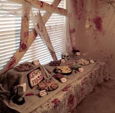 Living Room Decorating Ideas For Birthday Parties Kitchen Design Decor Zombie Decorations The Collection Indoors On Halloween