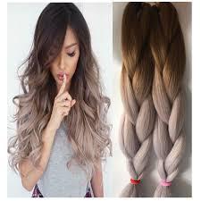 Braid Hair Extensions by Aliexpress Com Buy 10pcs Jumbo Braiding Hair Brown Grey Ombre