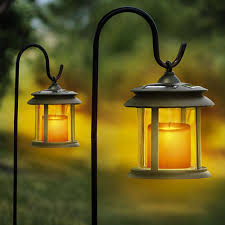 solar lights heartland america flicker candle solar lights pair