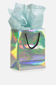 iridescent tissue paper stuff it gift bag small with tissue paper