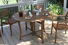 48 inch round folding table amazon com outdoor interiors round folding table 48 inch brown